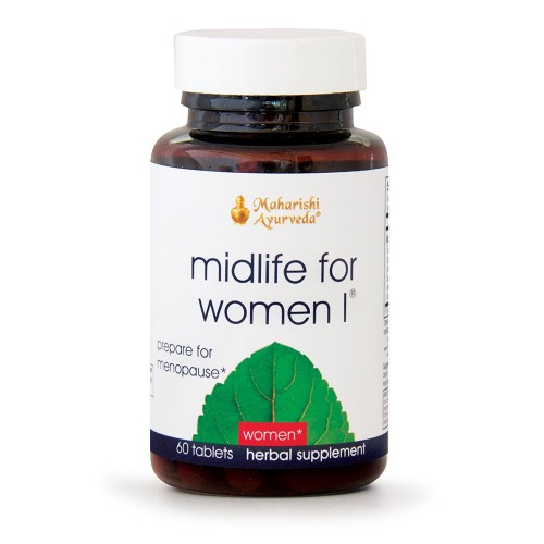 Midlife for Women I | 60 Herbal Tablets | Natural Herbal Formula for Pre-Menopause | Balances Hormone Production & Strengthens Bone Tissue with Amla & Arjuna | Eliminates Toxins for Easier Transition
