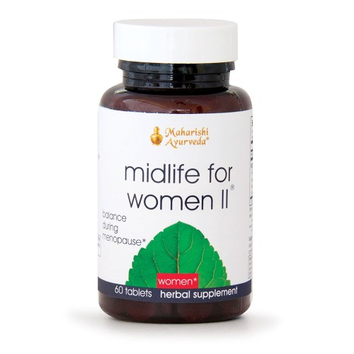 Midlife for Women II | 60 Herbal Tablets | Natural Herbal Formula to Balance the Reproductive System During Menopause with Amla | Balances Emotions | Supports Circulation
