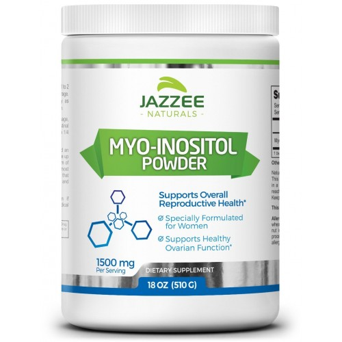 Myo-Inositol Powder | 18 Ounces (510 g) | 340 Servings | 1500 mg | 100%  Pure | Vegetarian / Vegan | PCOS, Ovarian, and Reproductive Support |  Promotes