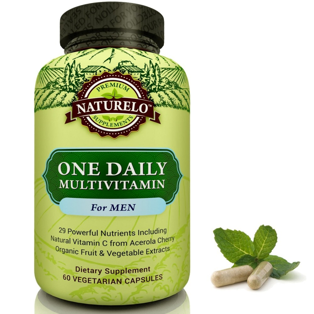 Best Multivitamin For Men >> Naturelo One Daily Multivitamin For Men Best Vitamins For Hair And Energy One A Day 60 Capsules 2 Month Supply