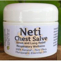 NETI Chest Salve ! Sinus & Lung Relief. Respiratory Wellness. Clearing, Healing Ions Aromatherapy. Handy Portable. Healing Botanicals Colds Cough Therapy 100% Natural