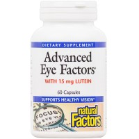 Natural Factors - Advanced Eye Factors, Supports Healthy Vision, 60 Capsules