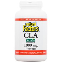 Natural Factors - CLA Tonalin 1000mg, Promotes Increased Muscle Retention & Energy Levels, 180 Soft Gels