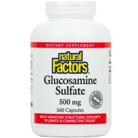 Natural Factors - Glucosamine Sulfate, Supports Structural Integrity of Joints & Connective Tissue, 360 Capsules