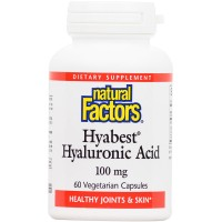 Natural Factors - Hyabest Hyaluronic Acid, Supports Healthy Joints & Skin, 60 Vegetarian Capsules