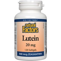 Natural Factors - Lutein 20mg, Natural Antioxidant to Support Eye Health, 120 Soft Gels