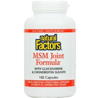 Natural Factors - MSM Joint Formula, Supports Structural Integrity of Joints & Connective Tissue, 180 Capsules