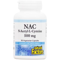 Natural Factors - N-Acetyl-L-Cysteine 500mg, Supports Antioxidant Activity, 90 Vegetarian Capsules