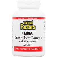 Natural Factors - NEM Knee & Joint Formula with Glucosamine, Promotes Joint Comfort & Mobility, 60 Tablets