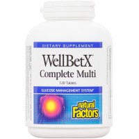 Natural Factors - WellBetX Complete Multi, Supports Overall Good Health, 120 Tablets