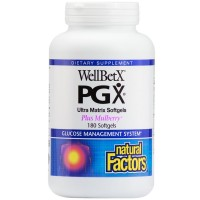 Natural Factors - WellBetX PGX Ultra Matrix Plus Mulberry, Promotes Satiety and Helps Normalize Appetite, 180 Soft Gels