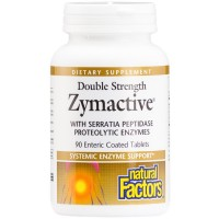 Natural Factors - Zymactive Proteolytic Enzyme Double Strength, Systemic Enzyme Support, 90 Enteric Coated Tablets