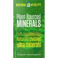 Natural Vitality Plant Sourced Minerals Diet Supplement, 60 Count