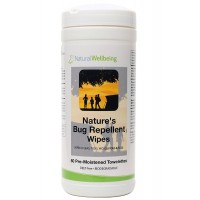 Natural Wellbeing - Nature's Bug Repellent Wipes - 60 Biodegradble wipes