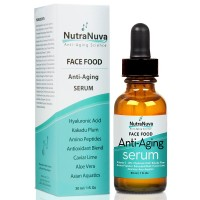 NutraNuva Face Food Anti Aging 20% Natural Vitamin C Serum, 1 fl. oz
