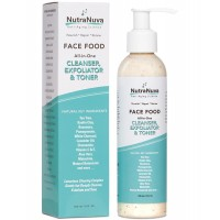 NutraNuva Face Food – Cleanser, Exfoliator & Toner All-in-One – Clear Skin Natural Facial Wash, Tea Tree & Clay for Gentle Clean Anti Aging, Not Drying / Oily, Restore pH, Fight Puffiness & Acne