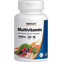 Nutricost Multivitamin 120 Capsules - With Probiotics, Enzymes, and Antioxidants