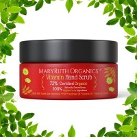 ORGANIC VITAMIN HAND, FOOT & BODY SCRUB w/ MSM by MARYRUTH 8oz – Unscented - Exfoliates Dry, Damaged or Normal Skin. Hydrates w/a rare blend of Certified Organic Plant Based Ingredients