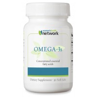 Omega-3's Natural Fish Oil Capsules with Concentrated EPA and DHA, Lemon-Rosemary Flavor - 30 Soft Gels