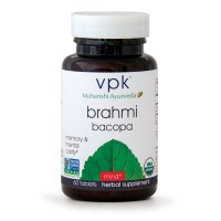 Organic Brahmi | 60 Herbal Tablets | Natural Brain Tonic for Mental Clarity & Optimal Mental Functioning