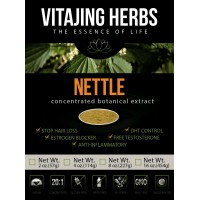 Organic Nettle Extract Powder (2oz / 57gm) Whole Leaf + Root | 20:1 Concentration (100% Pure Nettle, Contaminant Free, Wildcrafted, Certified Organic, Vegan, Non-GMO, Gluten-Free)