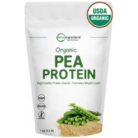 Organic Pea Protein Powder, 1Kg (2.2 Pounds), Super Rich in Essential Amino Acids and Minerals, Increases Carbohydrate Metabolism for Heart Health & Weight Management, Vegan Friendly
