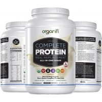 Organifi Complete Protein (1182g) - Best Tasting Organic Vegan Protein and Vitamin Shake - Plant Based Protein Powder - Nutritious Meal Replacement - Vanilla Flavored - 30 Day Supply