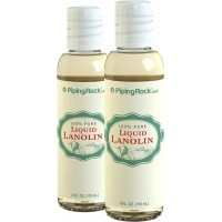 Piping Rock 100% Pure Liquid Lanolin 2 Bottles x 4 fl oz (118 mL)