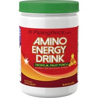 Piping Rock Amino Energy Powder (Pre Workout) Tropical Fruit Punch 9.5 oz (270 g) Bottle