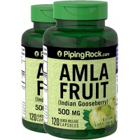 Piping Rock Amla Fruit Indian Goosberry 500 mg 2 Bottles x 120 Capsules Dietary Supplement
