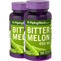 Piping Rock Bitter Melon / Momordica 450 mg 2 Bottles x 100 Quick Release Capsules Dietary Supplement