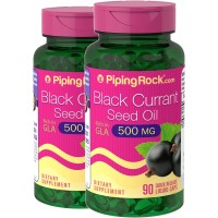 Piping Rock Black Currant Seed Oil 535 mg 2 Bottles x 90 Softgels Rich in GLA Dietary Supplement