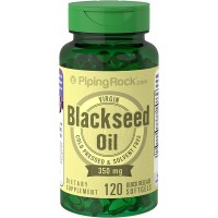 Piping Rock Black Seed Oil 350 mg Cold Pressed Solvent Free 120 Quick Release Liquid Capsules Dietary Supplement