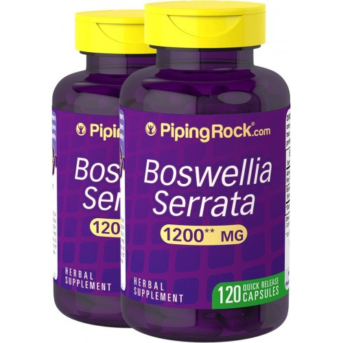 Piping Rock Boswellia Serrata 1200 mg 2 Bottles x 120 Quick Release Capsules Dietary Supplement
