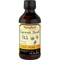 Piping Rock Carrot Seed 100% Pure Essential Oil 2 fl oz (59 ml) Bottle Organic Cold Pressed Daucus Carota Therapeutic Grade