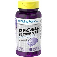 Piping Rock Citicoline CDP Recall Elements 500 mg 60 Quick Release Capsules Dietary Supplement