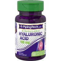 Piping Rock H-Joint Bioavailable Hyaluronic Acid 100 mg 60 Quick Release Capsules Dietary Supplement