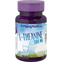 Piping Rock L-Theanine 100 mg 90 Quick Release Capsules Dietary Supplement