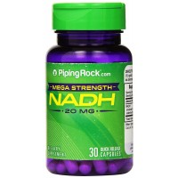 Piping Rock Mega Strength NADH 20 mg 30 Quick Release Capsules Dietary Supplement