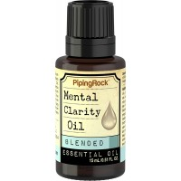 Piping Rock Mental Clarity Essential Oil Blend 1/2 oz (15 ml) Dropper Bottle