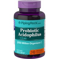 Piping Rock Probiotic Acidophilus 250 Million Organisms 2 mg 240 Quick Release Capsules Dietary Supplement