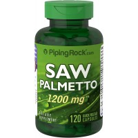 Piping Rock Saw Palmetto 1200 mg 120 Quick Release Capsules Dietary Supplement