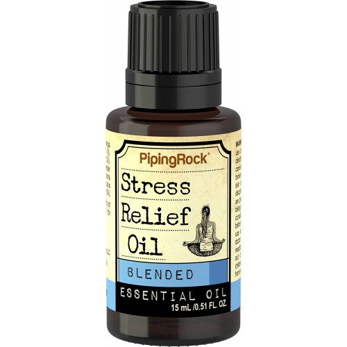 Piping Rock Stress Relief Blended Essential Oil 1/2 oz (15 ml) Dropper Bottle Therapeutic Grade