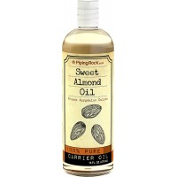 Piping Rock Sweet Almond Oil 16 fl oz (473 mL) Bottle Organic Cold Pressed Frunus Amygdalus Dulcis