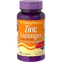 Piping Rock Zinc Lozenges with Echinacea & Vitamin C 60 Lozenges Natural Berry Flavor