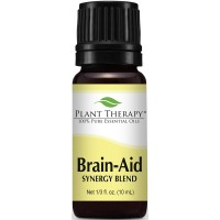 Plant Therapy Brain Aid Synergy (for mental focus and clarity) Essential Oil Blend  100% Pure, Undiluted, Therapeutic Grade  10 ml (1/3 oz)