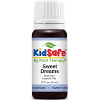 Plant Therapy KidSafe Sweet Dreams Synergy Essential Oil Blend. 100% Pure, Undilated, Therapeutic Grade. Blend of: Orange, Juniper, Coriander, Blue Tansy and Rose Absolute. 10 ml (1/3 oz).