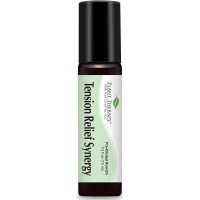Plant Therapy Tension Relief (Headache Relief) Synergy Pre-Diluted Roll-On. Ready to use! 100% Pure, Therapeutic Grade Essential Oils Diluted in Fractionated Coconut Oil. 10 ml (1/3 oz).