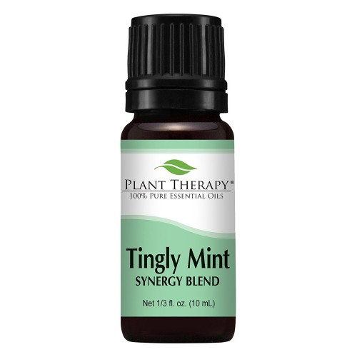 Plant Therapy Tingly Mint Synergy Essential Oil Blend. 100% Pure, Undiluted, Therapeutic Grade. Blend of: Peppermint, Sweet Orange, Wintergreen and Grapefruit. 10 ml (1/3 oz).