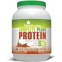 PlantFusion Complete Protein Powder, Chocolate Raspberry, No Soy or Rice, 30 Servings, 21g Protein, 2lb Tub